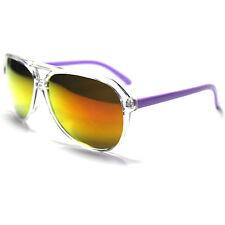 #SN20-S6 SONIC Eyewear ® Transparent Aviator Sunglasses - Mirror UV400 - Purple