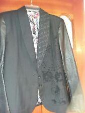 Desiguel S 13 (S EU 46) Black Woman's Blazer, Embroidered