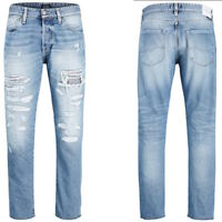 Jack & Jones Herren Destroyed Jeans | Fred BL 741 | Tapered Fit | W29 & W30