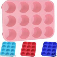 12 SILICONE LARGE MUFFIN YORKSHIRE PUDDING MOULD BAKEWARE CUP CAKE BAKING TRAY