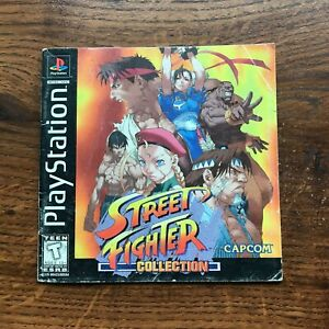 Street Fighter Collection PS1 Playstation 1 PS One Instruction Manual Only