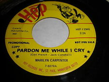 Marilyn Carpenter: Pardon Me While I Cry / Better Luck Next Time 45 - Country