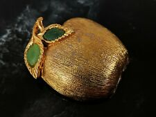 Vintage Signed PERI Apple Brooch & Pendant With 2 Green Stones ..
