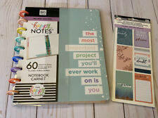 The Happy Planner Wellness Notebook and Journaling Stickers Bundle Brand New