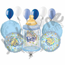 11 pc It's a Boy Bottle Balloon Bouquet Decoration Baby Welcome Home Shower Blue