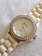 Geneva Platinum Ladies Excellent Condition Working Quartz Watch