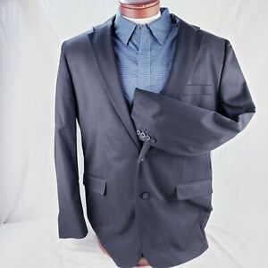 Men's Black Blazer Sport Suit Jacket by George Black Two Button Multiple New