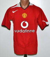 MANCHESTER UNITED 2004/2006 HOME FOOTBALL SHIRT JERSEY NIKE SIZE S ADULT
