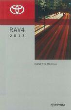 2013 Toyota Rav4 Owners Manual User Guide
