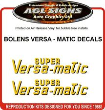 BOLENS SUPER VERSA - MATIC TRACTOR DECAL SET, reprocduction