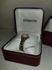 Vintage 1990's Swiss 1880 Wittnauer Stainless Steel Women Date Watch