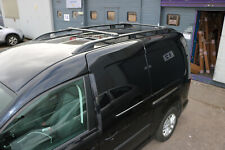 VW CADDY MAXI on 2004 ALUMINIUM LOCKABLE ROOF RAIL BARS RACK + CROSS BARS BLACK.