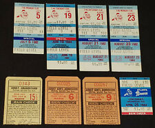 1970-1980 - ATLANTA BRAVES - MLB - BASEBALL TICKET STUBS (8) - ORIGINAL