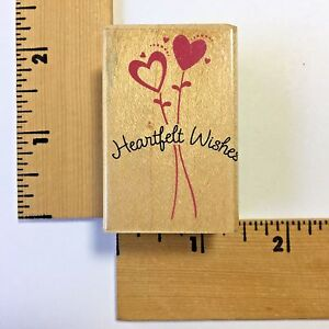 Hero Arts Rubber Stamps - Heartfelt Wishes with Hearts - C4738 - NEW