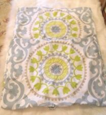 Home Classics Standard Pillow Shams (2) Damask Floral Aqua Blue Sage Green Brown