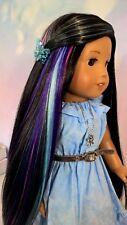 """Special Custom Wig American Girl 10-11 """"Cosmos Intergalactic"""" Heat Safe 56"""