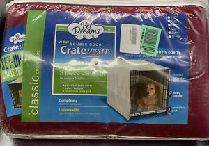 Pet Dreams Complete 3 Piece Crate Bedding Set Original Cover Bumper & Pad L730