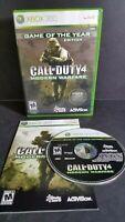 XBOX 360 Call of Duty 4: Modern Warfare GOTY  complete CIB