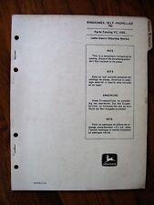 John Deere 780 Self Propelled Windrower Parts Catalog Manual