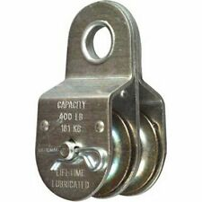 "Stanley National Hardware 3214BC 1-1/2"" Zinc Plated Fixed Double Pulley"