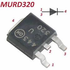 20 Stück ultraschnelle ON SMD Diode MURD320  200V 3A 35nS incl De Versand