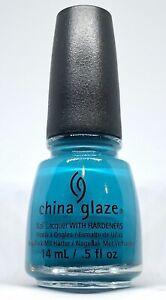 China Glaze Nail Polish * Wait N' Sea 1308 Creamy Aqua Blue Lacquer