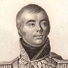 Portrait XIXe Maréchal Macdonald Sedan Ardennes NAPOLEON Bonaparte Empire 1818