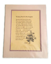 New! Wedding Wish Daughter Poem Double-Matted Print Gift, Appreciation Thank You