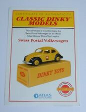 Atlas/Dinky Toys No. 262, Swiss Postal VW, - Certificate of Authenticity, Mint