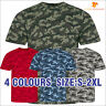 AWDis Men's Camouflage Classic T-Shirt Army Cotton Tee Camo Print Casual Tee Top