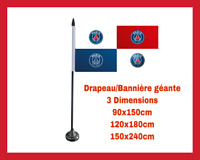 DRAPEAU GEANT BANNIERE LOGO FOOTBALL CLUB SUPPORTER PSG PARIS SG MAILLOT MBAPPE