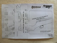 Crosman 1400 / 140 One O-Ring Seal Kit + Exploded View, Parts List & Seal Guide
