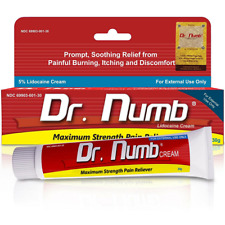 Dr Numb 5% Topical Anesthetic Numbing Cream for Maximum Pain Relief w Vitamin E
