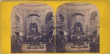 Église Saint-Roch de Paris Stereo Vintage albumine ca 1865