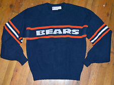 *1980s CHICAGO BEARS /CLIFF ENGLE* vtg striped wool sweater shirt M/L Ditka NFL