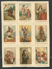 Holy card lamina antique de Santos image pieuse santino estampa