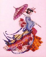 Mirabilia Nora Corbett Cross Stitch Chart Pattern ~ MISS CHERRY BLOSSOM #153