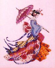 Mirabilia Nora Corbett Cross Stitch Chart Pattern ~ MISS CHERRY BLOSSOM #153