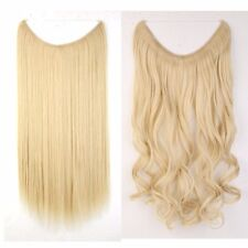 "US Secret Wire in Hair Extensions Invisible As Human Hairpiece Long Wavy 20"" New"