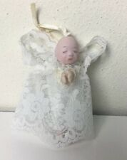 Miniature Porclein Doll Angel Ornament Pin By Lydia Steinke