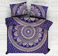 Indian Cotton Ombre Mandala King Quilt Doona Set Bohemian Duvet Comforter Cover