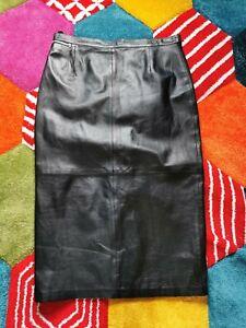 Gerry Weber Size 18 Full Length Long Leather Maxi Skirt