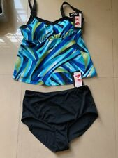 NEW NWT MAXINE OF HOLLYWOOD SWIMSUIT 16 D CUP 2 PC  TANKINI  16 D CUP 16D