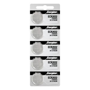 100 Energizer ECR2032 Lithium (LiMNO2) Coin Cell Batteries 20 x 5 Pk Tear Strips