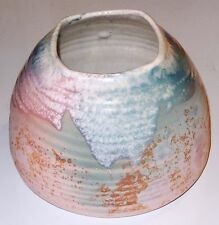 Tony Evans Pottery VASE Ancient Sands Peach Green Signed #214