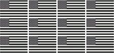 "12 - 2"" x 1.2"" American Subdued Flag Decal USA United States Hard Hat Sticker RH"