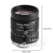 Wide Field Cctv Hd 12mm 5mp Cs C Mount Industry Camera Scope Optical Manual Lens
