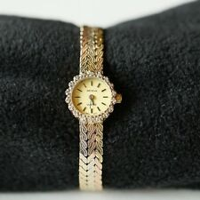 Geneve 14KT tri-color gold diamond ladies wrist watch