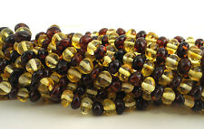 "Natural Baltic Amber Loose Beads Strand 5MM - 6MM ROUNDED  16"" ALLUREGEM 74463"