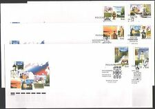 Russia 2006 Horse/Rainbow/Buildings/Architecture/Trees/Regions 6 x FDC (n36772)